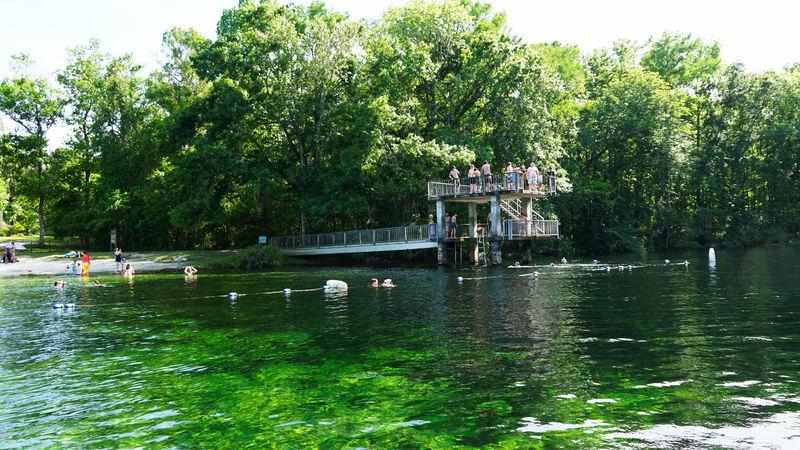 base plein air baigneurs plonge lac eau douce